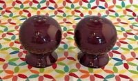 Fiestaware Claret Salt and Pepper Shaker Set Fiesta Retired Ball Shakers