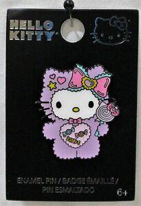 Loungefly Hello Kitty Fuzzy Purple Suit Pin Lollipop & Candy Enamel Pin