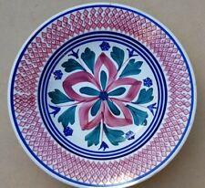 Societe Ceramique Maestricht Holland Spongeware Serving Bowl 28 cm diameter Vtg