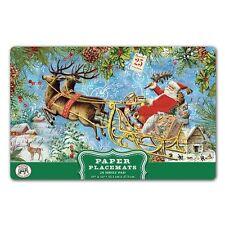 Michel Design Works 17 x 11 Paper Placemats Pad/25  Christmas Joy - NEW