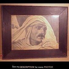 Antique 1898 Original Elihu Vedder 1836-1923 Print  Arab Man Lawrence of Arabia