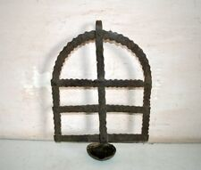 1800'c Vintage Old Antique Hand Carved Old Worship Hanging Deepak Collectible