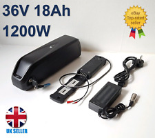 36V 18Ah 1200W Hailong-3 e-Bike Battery Lithium Cells, USB & 3A UK Charger