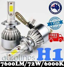 H1 72W 7600LM LED White 6000k Halogen Car Headlight Xenon Globe Bulb Kit HID