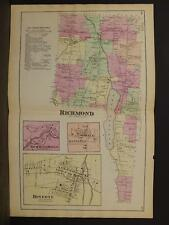 New York, Ontario County Map, 1874, Richmond Township, Double Page, Y3#74