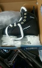 hockey ice skates by iTech  youth 11  ( Black and white) child sport skating