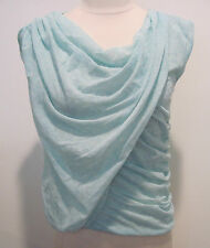 FANG BROTHERS For J Crew Aqua Blue Noir Melange Cotton  Blouse Size M?