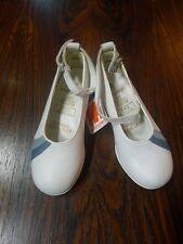 ELEFANTEN Kinder Schuhe Ballerinas Gr. 24 Weiß Leder 70er True Vintage 70s
