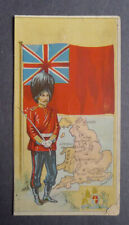 1940's Muth Bakery  Soldiers and Flags card Great Britain