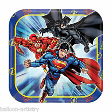 DC Justice League Tableware Party Decorations Foil Balloons Scene Setters 8pk Paper Plates 18cm
