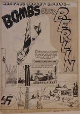 BOB POWELL original art, ALL NEW COMICS #4 pg 1, 1943, Bombs over Berlin, WWII Comic Art