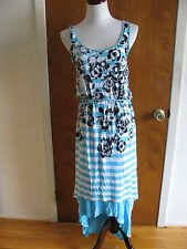 Kensie women's wave combo lined  summer dress size Large NWT