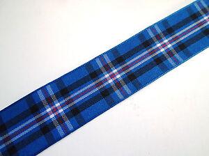 Tartan Ribbon for RANGERS FC Football Club various widths + ODD SAMPLE LENGTHS