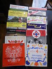 lot de 12 vinyles 45 tours danses et chants polonais - Kubiak,  Legawiec...