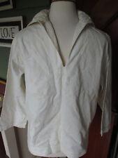 Small Mens 40 Chest VTG World War II white Naval Uniform Original Shirt Sailor