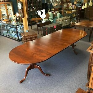 Eldred Wheeler Cherry Double Pedestal Dining Table