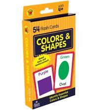CARSON DELLOSA,COLOR SHAPES FLASH CARDS PHONICS, PRESCHOOL CARDS, 54 COUNT
