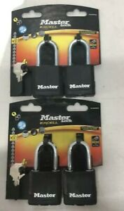 PACK OF 4 X Master Lock 48mmWide Excell Covered LaminatedSteel Padlock-M115EURTL