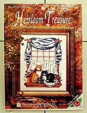 "Heirloom Treasure CAT FRIENDS Counted CROSS STITCH KIT 8""X10"" NEW"