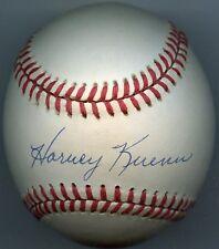 HARVEY KUENN Signed Baseball 1953 ROY Tigers Giants Brewers  JSA Authenticated