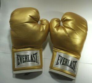 Gold Everlast Mens Boxing Gloves 12oz