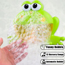 Bubble Machine Big Frogs Automatic Bubble Maker Blower Music Bath Toy For Baby B