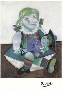 Postkarte: Pablo Picasso - Maya mit Puppe
