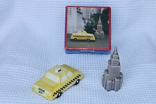 Empire State Building Taxi w/ box Salt Pepper Shakers New York FREE SHIPPING