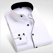 Brand New Men's Dress Shirts Men Elegant Long Sleeve Formal Business Shirt S-4XL