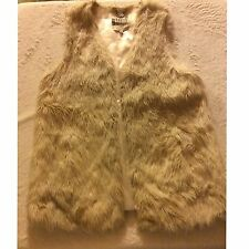 Women's BB Dakota Vest, Size Large, Faux Fur, White