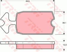 Brake Pads Set fits CITROEN 2CV 0.6 Front 79 to 90 TRW 5441971 95551761 75516220