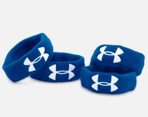 "Under Armour Women's Ua 1"" Performance Wristband 4-pack, Blue"