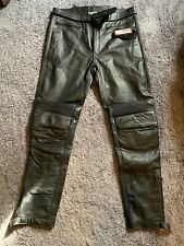 Genuine Cowhide Leather Motorcycle Jeans 38W 35L (would Fit 34/36W Ideally)