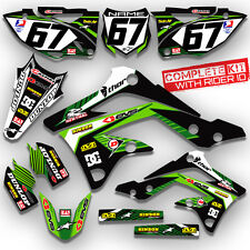 2012 KXF 450 GRAPHICS KIT GREEN KAWASAKI KX450F MOTOCROSS DECALS