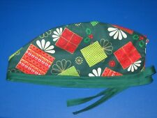 Surgical Scrub Hats caps Christmas Presents on Green      Gifts