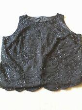 Womens clothes.  BLACK Jkara beaded top Size 1X
