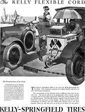 Hudson Ferryboat PETER HELCK Kelly Springfield Tires MANHATTAN SKYLINE 1925 Ad