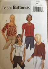 Cut Complete BUTTERICK 5360 Sewing Pattern Sizes 6 8 10 12 Misses Jackets Tops
