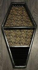 Coffin Jewerly box hanging wall Shelf Gothic Style 25L x 15W By Joanndles