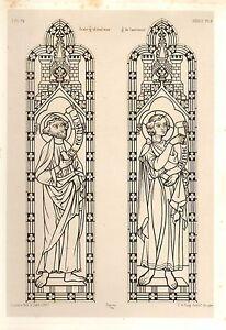 1857 Große Architektur Aufdruck ~ Seez Cathedral Mittelalterlich Gothic Kunst