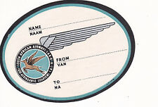 Airline Label Luggage SOUTH AFRICAN AIRWAYS name label large winged antelope