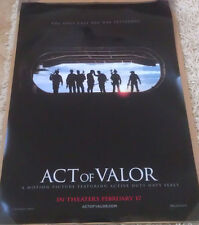 ACT OF VALOR MOVIE POSTER 1 Sided ORIGINAL Advance 27x40