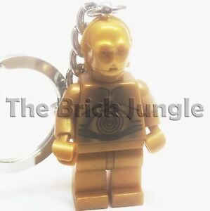Lego Star Wars minifig C3PO Keyring C3P0 keychain r2d2 clone game wii ps3 ps4 2