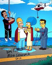 Matt Groening & Stephen Colbert ++ Autogramm ++ Die Simpsons