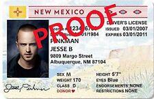 Jesse Pinkman / Aaron Paul / Breaking Bad LAMINATED Novelty ID ~ FREE SHIP~