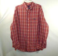 Ralph Lauren Chaps Mens Long Sleeve Button Down Oxford Dress Shirt Size LARGE L