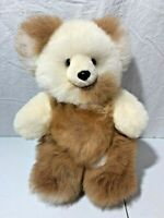 "13"" Unique Adorable Soft Brown and White Teddy Bear Collectible"