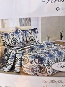 BRAND NEW Never Used VIRAH BELLA Croscill Aztec Full Queen Comforter & Shams