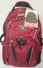 High Sierra Business Elite Backpack Fits 17'' Laptop & Tablet Travel Bag Wine
