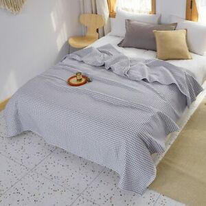 Waffle Plaid Cotton Blankets for Bed Bedspread Queen King Bedding Throw Blankets